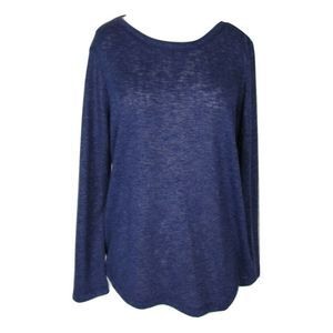 Chico's Size 1 M L/S Purple Light Weight Sweater